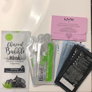 Other - Face masks, face/nose strips, blotting paper kit